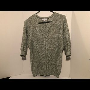 NYC Women's Sweater Marled Knit V-neck Size M